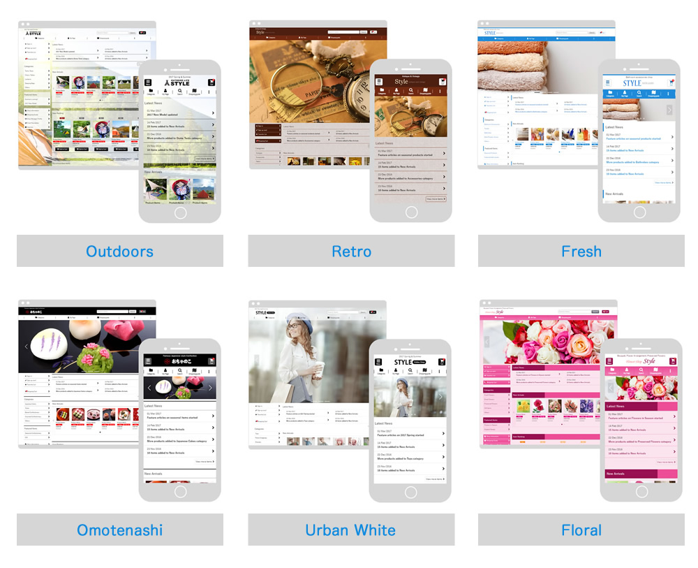 Ochanoko releases responsive webstore templates - Ochanoko