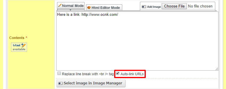 What Is The Auto Link Urls Checkbox Ochanoko Faq